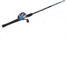 Zebco splash blue push button combo t1 for Push button fishing reel